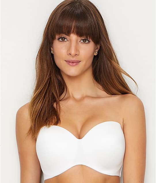Lilyette Strapless Bra in White Tailored(Front Views) 929NEW