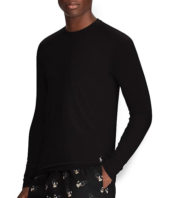 Polo Ralph Lauren Knit Long Sleeve Shirt in Polo Black LJT00R