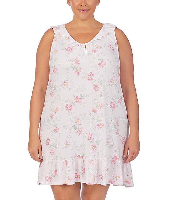 Lauren Ralph Lauren: Plus Size Floral Knit Flounce Chemise