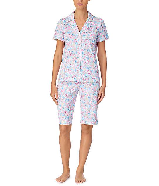 Lauren Ralph Lauren: Floral Woven Bermuda Pajama Set