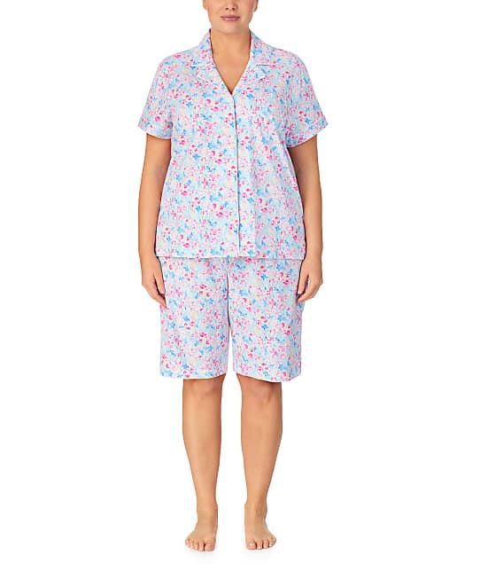 Lauren Ralph Lauren: Plus Size Floral Woven Bermuda Pajama Set