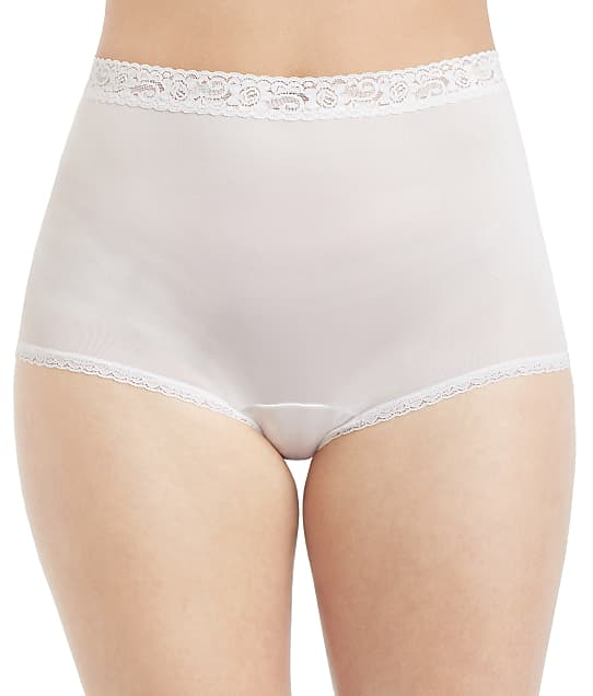 Lorraine Lace Trim Full Brief 3-Pack in Pearl(Front Views) LR102