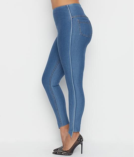 Lyssé: Medium Control Side Slit Denim Leggings