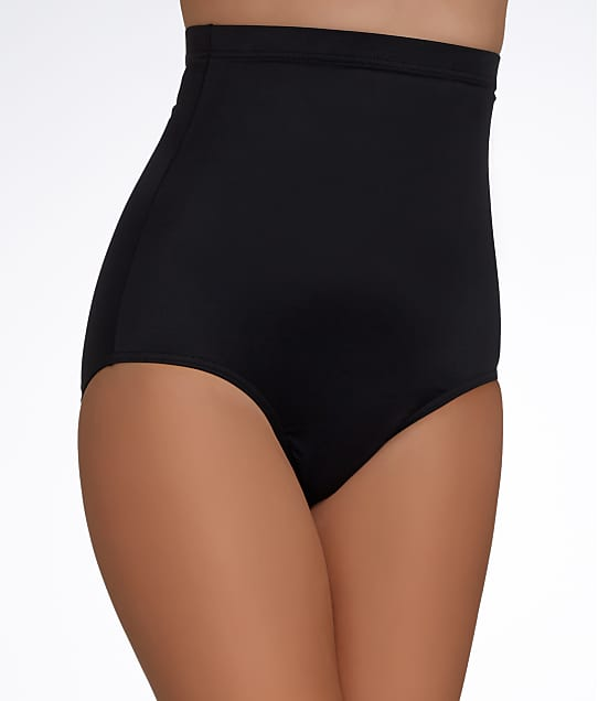 Magicsuit Solid High-Waist Bikini Bottom in Black 6006028