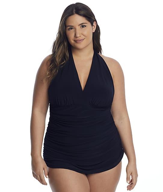 Magicsuit Plus Size Solids Yvonne Swim Dress in Black(Full Sets) 6006080W