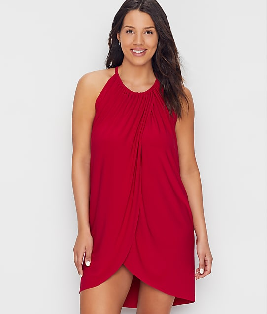Magicsuit Draped Cover-Up in Vamp 6008008