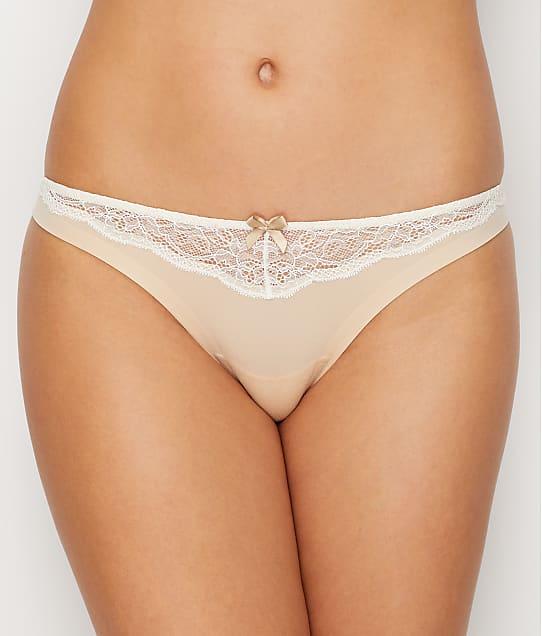 Maidenform Comfort Devotion Thong in Latte Lift Lace(Front Views) 40149