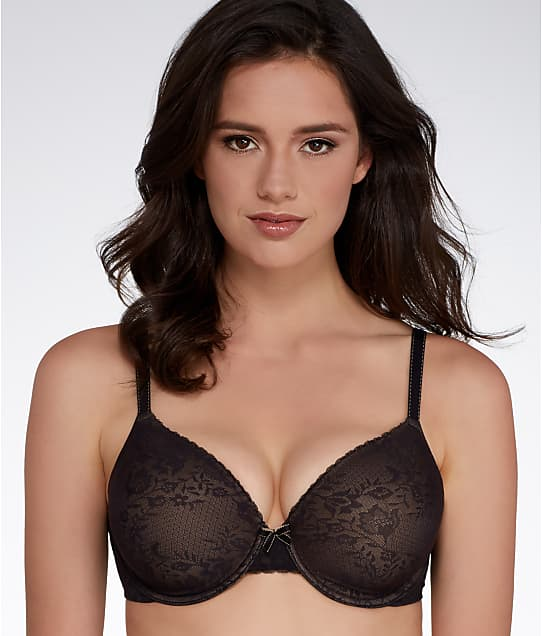Maidenform Comfort Devotion Extra Coverage Lace T-Shirt Bra in Black Lace 9404L