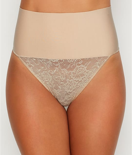 Maidenform Tame Your Tummy Lace Thong in Nude(Front Views) DM0049
