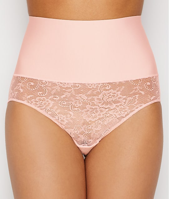 Maidenform Tame Your Tummy Lace Brief in Pink Pirouette DM0051L