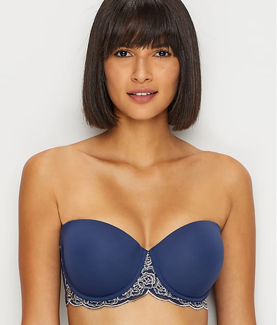 Maidenform Love The Lift Push-Up Strapless Bra in Navy Gloss(Front Views) DM9905L