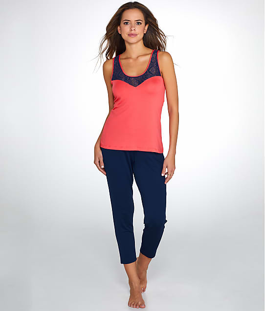 Maidenform: Color Roll Knit Cropped Pajama Set