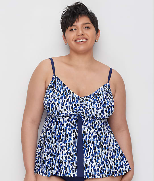 Maxine of Hollywood: Plus Size Rain Flyaway Tankini Top