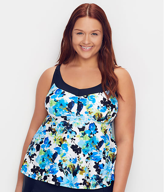 Maxine of Hollywood: Plus Size Royal Roses Underwire Tankini Top