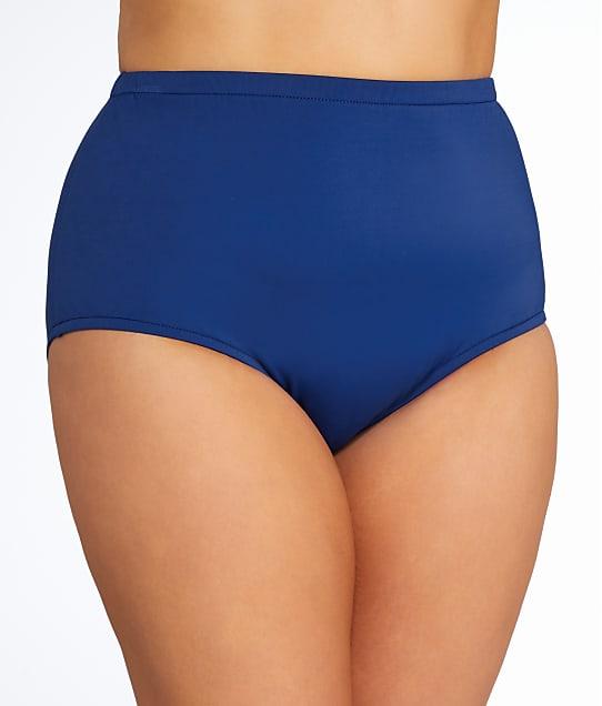 Maxine of Hollywood Plus Size Solid Bikini Bottom in Navy MW6NK50W