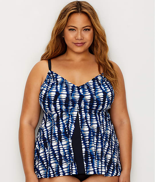 4c359513b4d Maxine of Hollywood Plus Size Flyaway Tankini Top | Bare Necessities ...