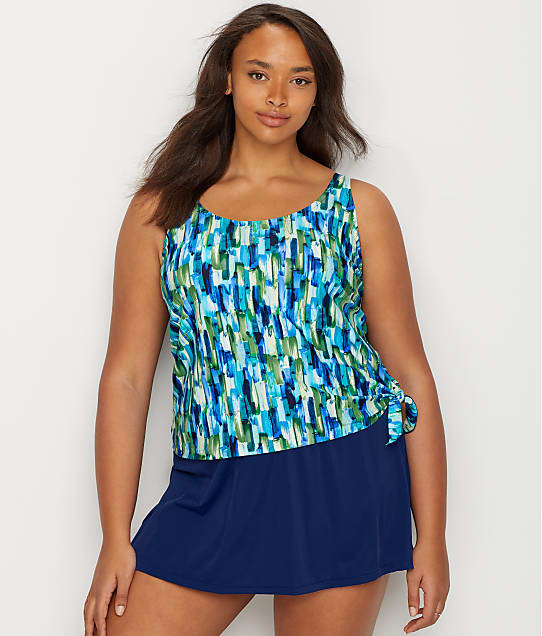 Maxine of Hollywood Plus Size Funfetti Swim Dress | Bare Necessities ...