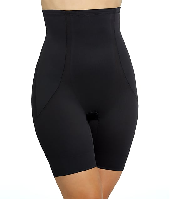 Miraclesuit Shape Away High-Waist Thigh Slimmer in Black(Front Views) 2919