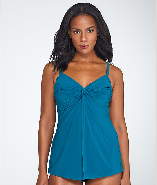 Miraclesuit: Solid Love Knot Tankini Top