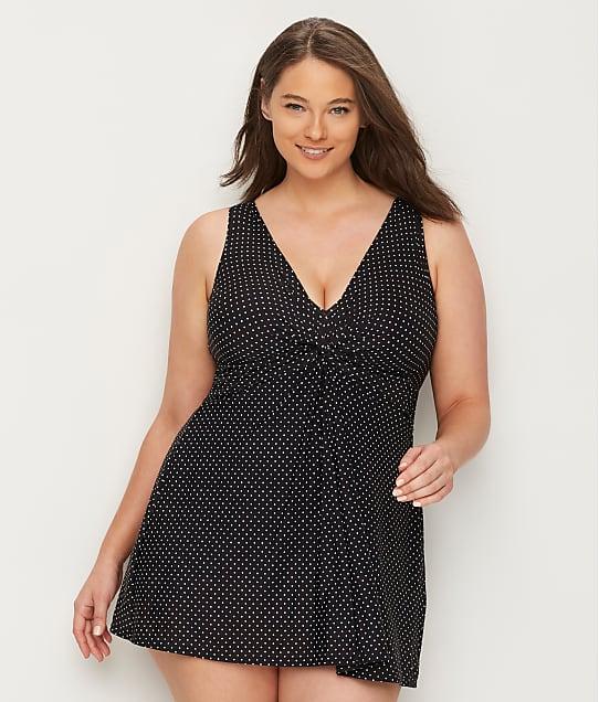 Miraclesuit: Plus Size Pin Point Marais Swim Dress