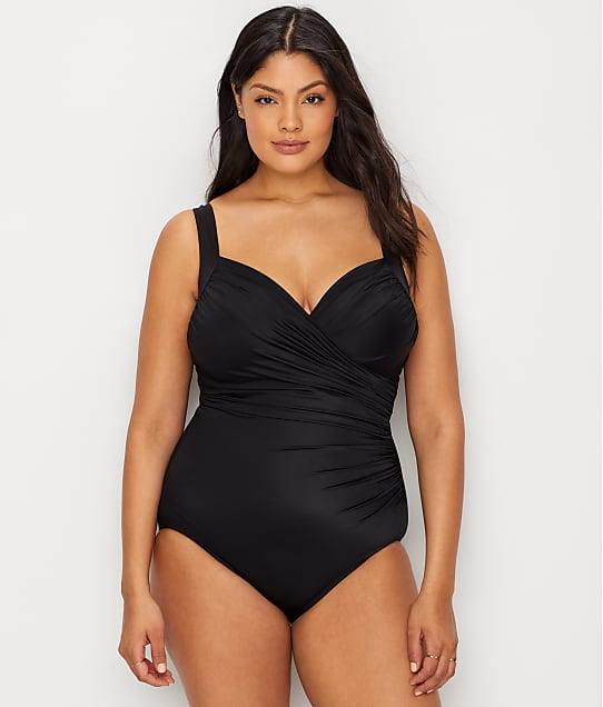 Miraclesuit Plus Size Sanibel Underwire One-Piece in Black 6518963W
