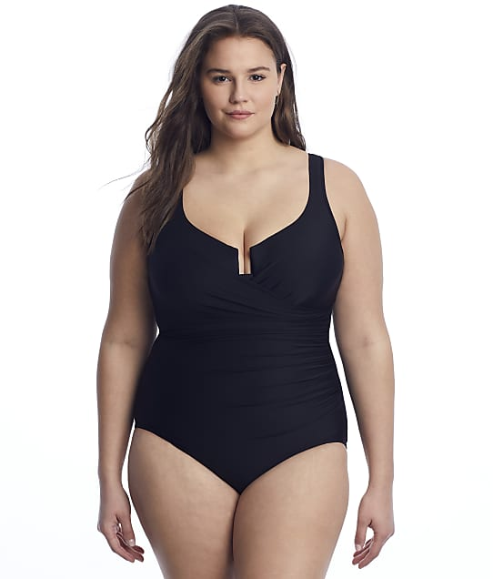 Miraclesuit Plus Size Must Haves Escape Underwire One-Piece in Black 6518966W
