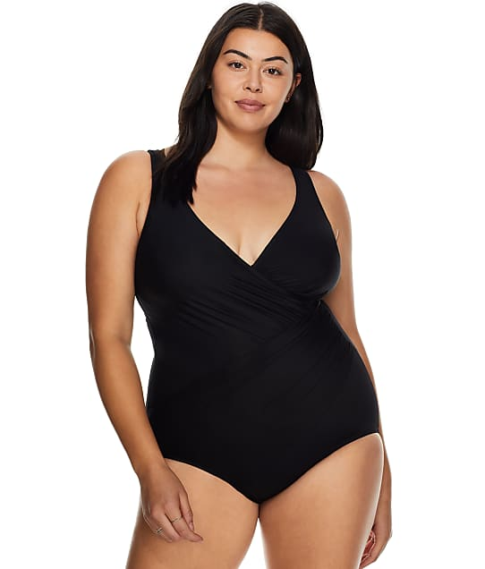 Miraclesuit Plus Size Wire-Free Oceanus One-Piece in Black 6519088W