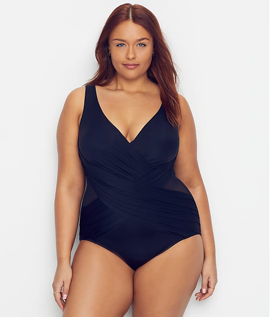 Miraclesuit: Plus Size Solid Crossover One-Piece