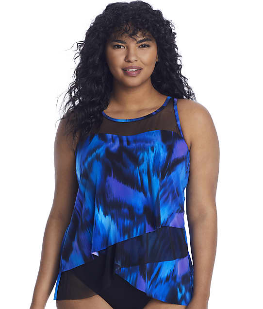 Miraclesuit Nuage Bleu Mirage Tankini Top DD-Cups in Blue 6532441DD