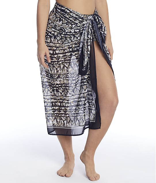 Miraclesuit Golden Lynx Sarong Cover-Up in Gold 6533004