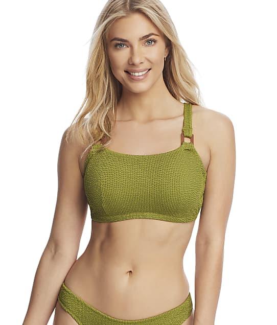 Miss Mandalay Honey Underwire Crop Bikini Top in Moss(Front Views) HON02MCT