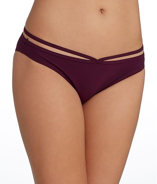 Miss Mandalay Icon Ring Bikini Bottom in Maroon IC04MRB