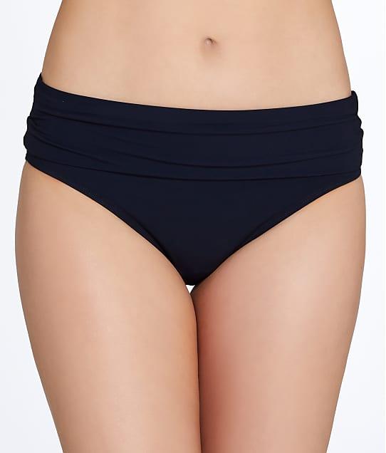 Miss Mandalay Icon Fold-Over Bikini Bottom in Black IC06BFB