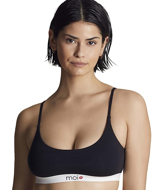 Moi Double Scoop Bralette in Midnight(Front Views) RMC0019