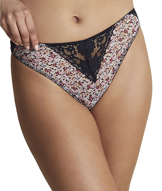 Moi Mesh & Lace High-Waist Panty in Daisy / Midnight(Front Views) RMP0023-P