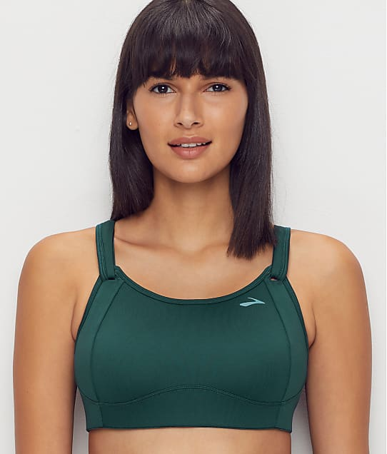 Brooks Fiona Mid-Impact Wire-Free Sports Bra in Forest 350064