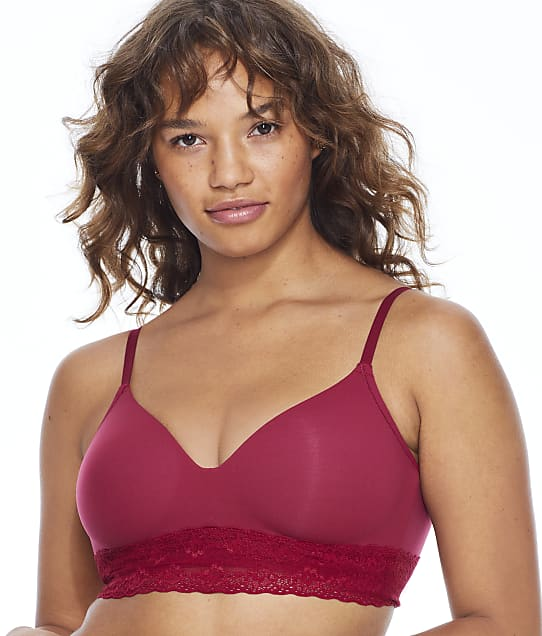 Natori Bliss Perfection Wire-Free T-Shirt Bra in Currant 723154