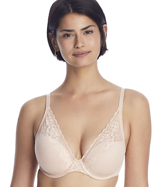 Natori Avail Convertible Plunge Bra in Cameo Rose(Front Views) 741258