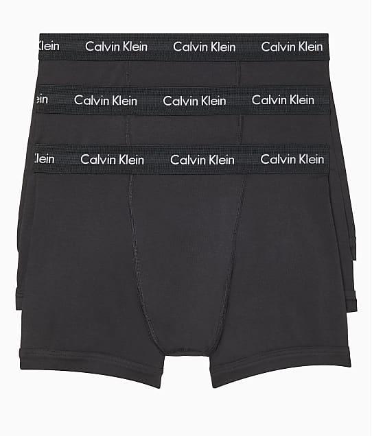 Calvin Klein Cotton Stretch Boxer Brief 3-Pack in Black NB2616