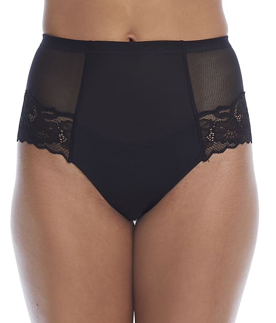 NearlyNude Pretty Me Lace Medium Control Full Brief in Midnight(Front Views) RCPT4038