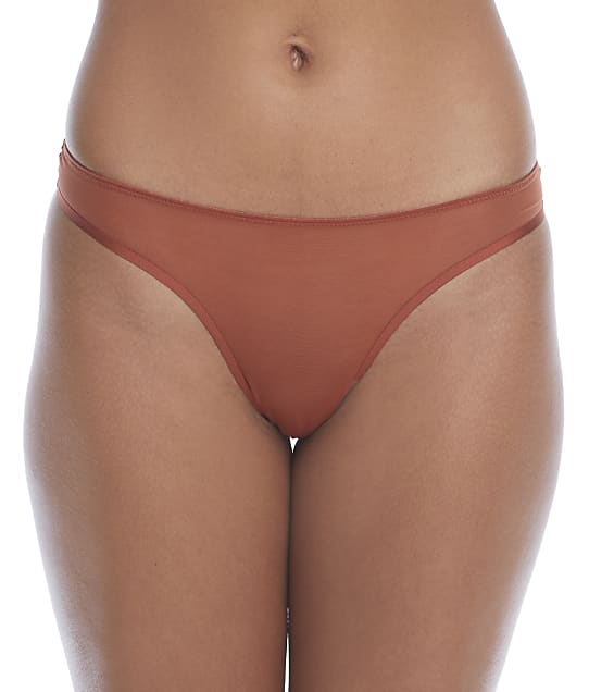 NearlyNude The Sheer Mesh Thong in Cinnamon(Front Views) RN70010