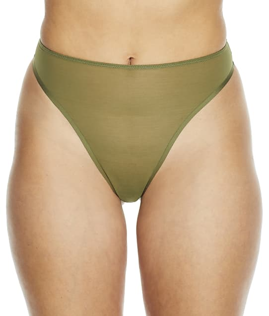 NearlyNude The Sheer Mesh Hi-Cut Brief in Fern(Front Views) RN70011