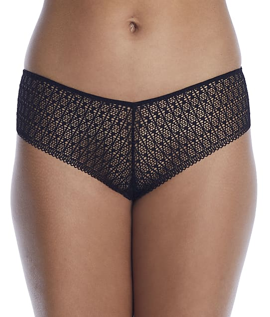 NearlyNude The Modern Geo Lace V-Cut Hipster in Midnight(Full Sets) RN70014