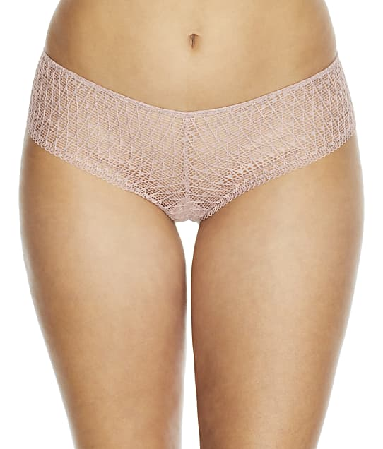 NearlyNude The Modern Geo Lace V-Cut Hipster in Pale Mauve(Front Views) RN70014