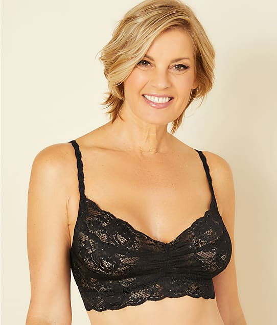 Cosabella Never Say Never Sweetie Bralette in Black(Front Views) NEVER1301