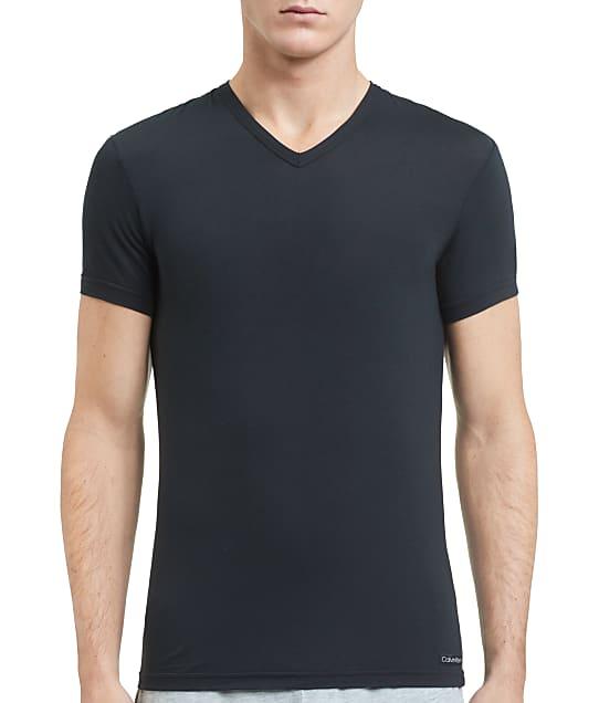 Calvin Klein Ultra-Soft Modal V-Neck T-Shirt in Black NM1659