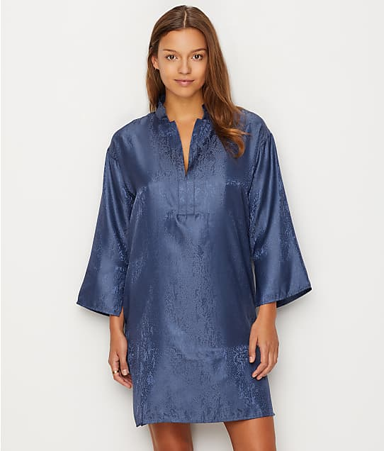 N Natori: Animal Satin Jacquard Sleep Shirt