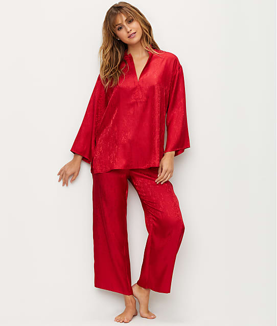 N Natori: Animal Satin Jacquard Pajama Set