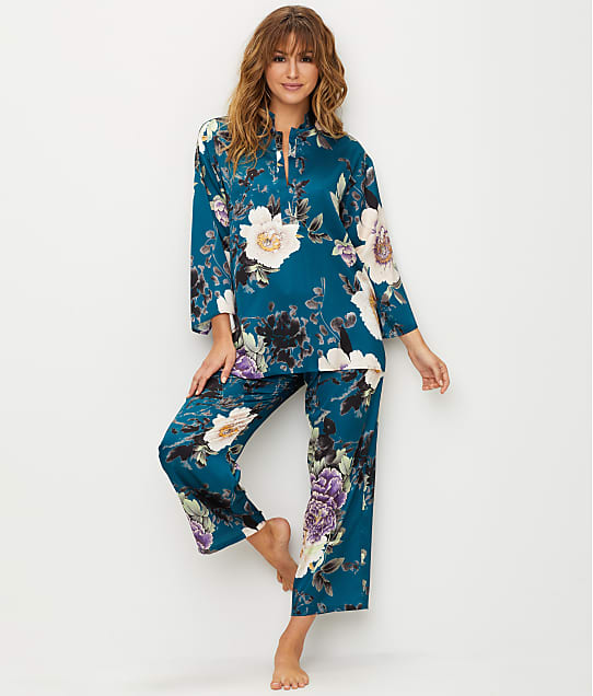 N Natori: Floral Dynasty Satin Pajama Set