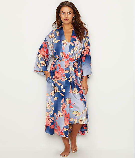 N Natori: Ombre Floral Satin Robe